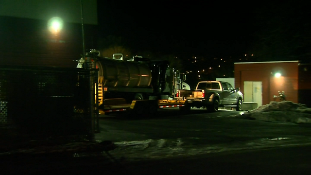 Cleanup crews are responding to an oil leak at a Waterbury manufacturer on Saturday. (WFSB)