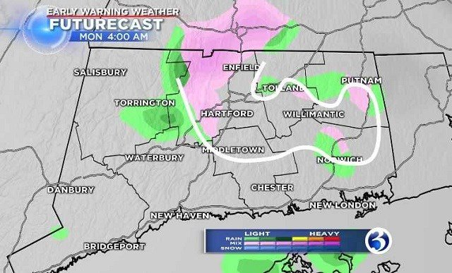 Monday will see some light rain and a chance of a wintry mix.