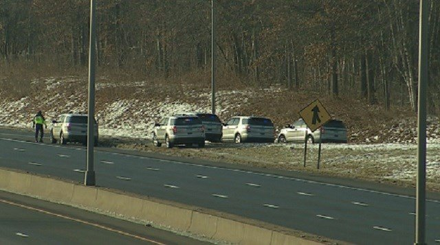 A fatal one-car crash has closed Interstate-91 South traffic in Enfield. (WFSB)