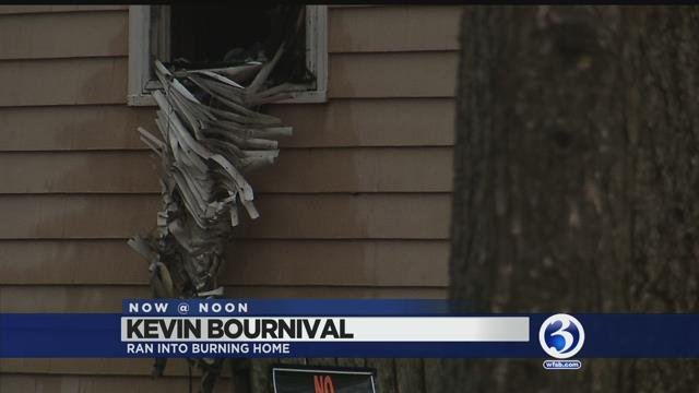 VIDEO: Neighbor helps rescue women from Plainville house fire