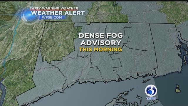 Dense fog advisory in affect for most of Connecticut. (WFSB)