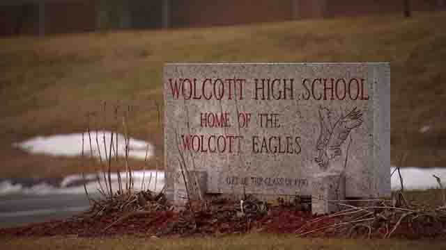 A Wolcott High School student is accused of bringing a gun to school (WFSB)