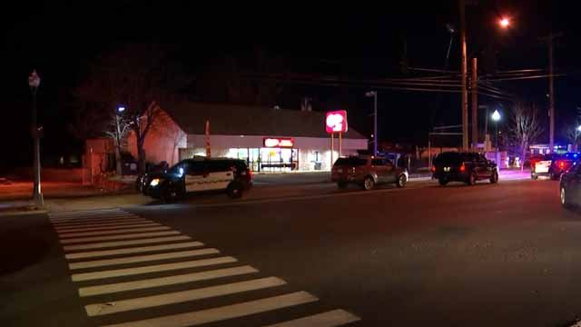 Hamden police responded to an armed robbery on Wednesday night (WFSB)