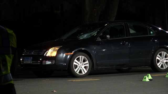 An elderly man was hit by a car in Rocky Hill on Thursday evening (WFSB)