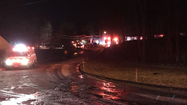 One person is dead after a fire in Naugatuck on Friday morning. (WFSB)