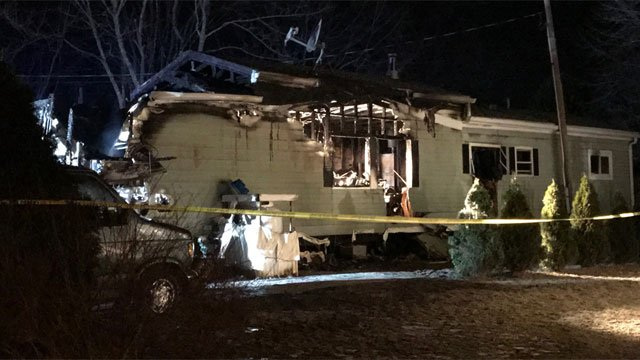 One person is dead after a fire in Killingworth on Thursday night. (WFSB)