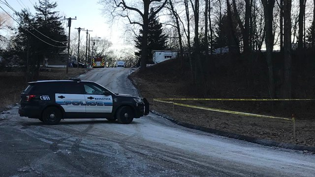 A man was found dead after a fire in a mobile home in Naugatuck. (WFSB)