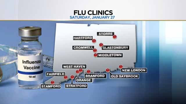 Flu clinics are being held this weekend (WFSB)