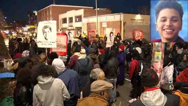 A rally was held in Bridgeport after the state's attorney report was released (WFSB/family photo)