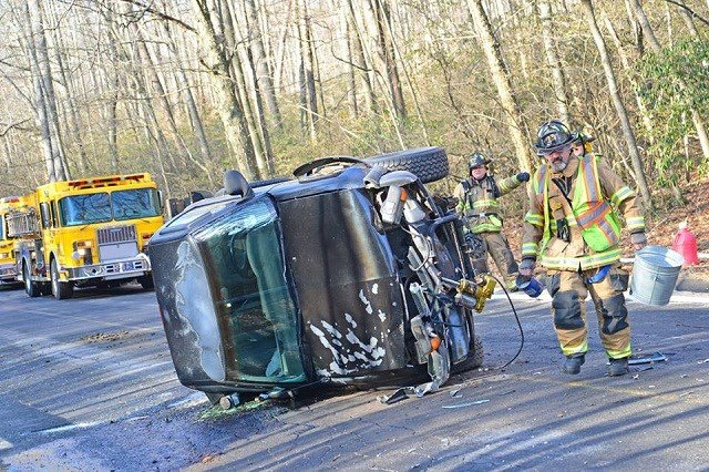 Rescue crews are blaming slippery conditions for a crash on Saturday morning in Haddam. (Haddam Vol. Fire Dept)