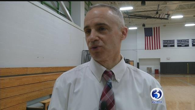 Northwest Catholic High School Coach John Mirabello will coach the eastern McDonald All-Americans this year. (WFSB)
