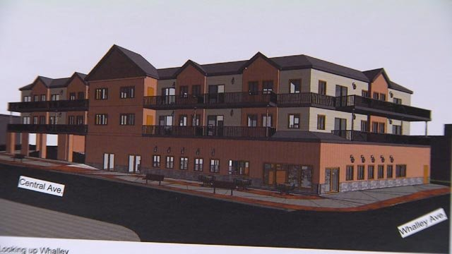 The rendering for the proposed Delaney's Restaurant