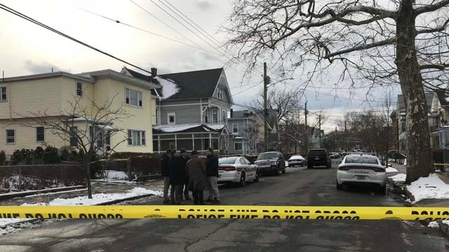 A woman's body was found on Exchange Street in New Haven on Tuesday (WFSB)