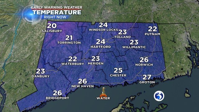 Saturday afternoon highs will be in the mid to upper 20s. (WFSB)