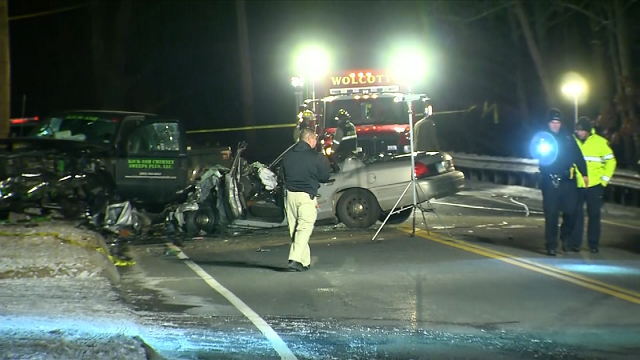 Police are responding to a two-car crash with injuries in Wolcott in which a Connecticut State Trooper was involved. (WFSB)