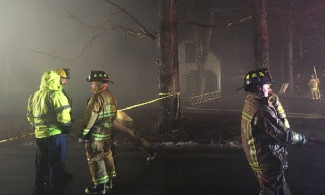 Crews extinguished a fire at a home on Stockburger Lane in Moodus. (WFSB)