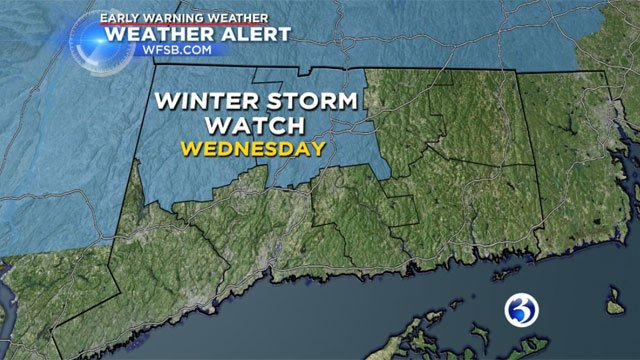 AWinter Storm Watch has been posted for Litchfield and Hartford counties. (WFSB)