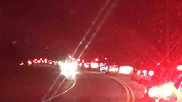 Traffic delays were reported in Columbia after a person was hit by a car (WFSB)