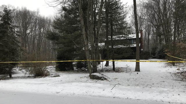 State police detectives are investigating a death on Smith Lane in Burlington. (WFSB)