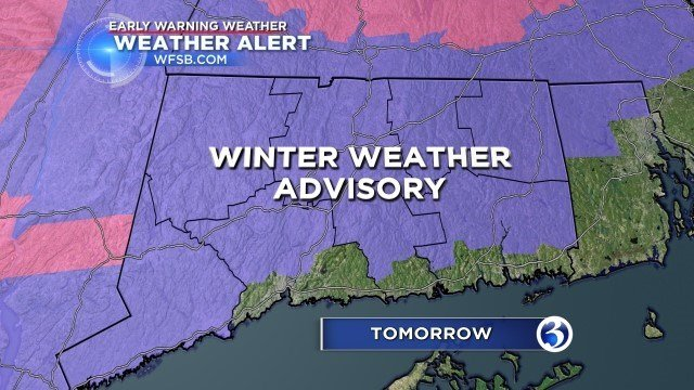 A winter weather advisory was issued for most of the state. (WFSB)
