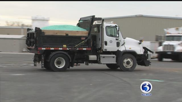 Hartford crews prepared for Wednesday's storm (WFSB)
