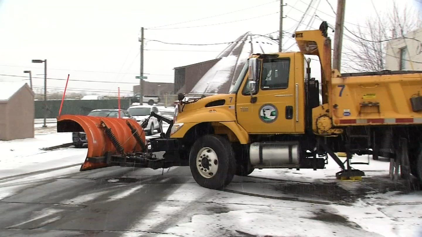 Crews hope the transition from snow will be to plain rain on Wednesday. (WFSB)