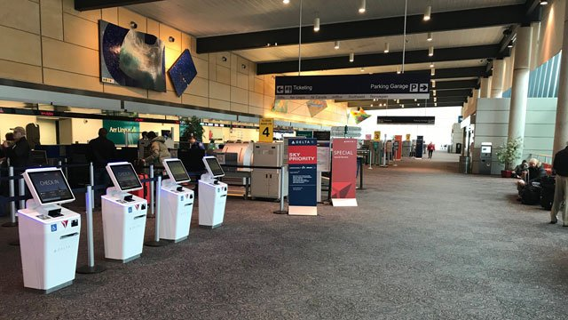 The Bradley International Airport remained open even though there were flight cancellations on Wednesday. (WFSB file photo)