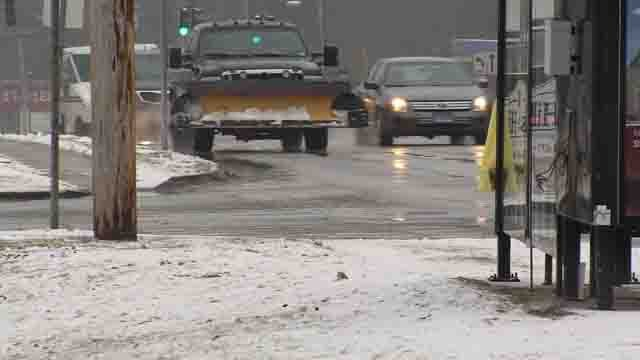 Snow turned to rain in Norwich on Wednesday (WFSB)