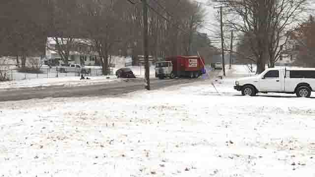 A woman was killed in a crash in Windsor on Wednesday (WFSB)