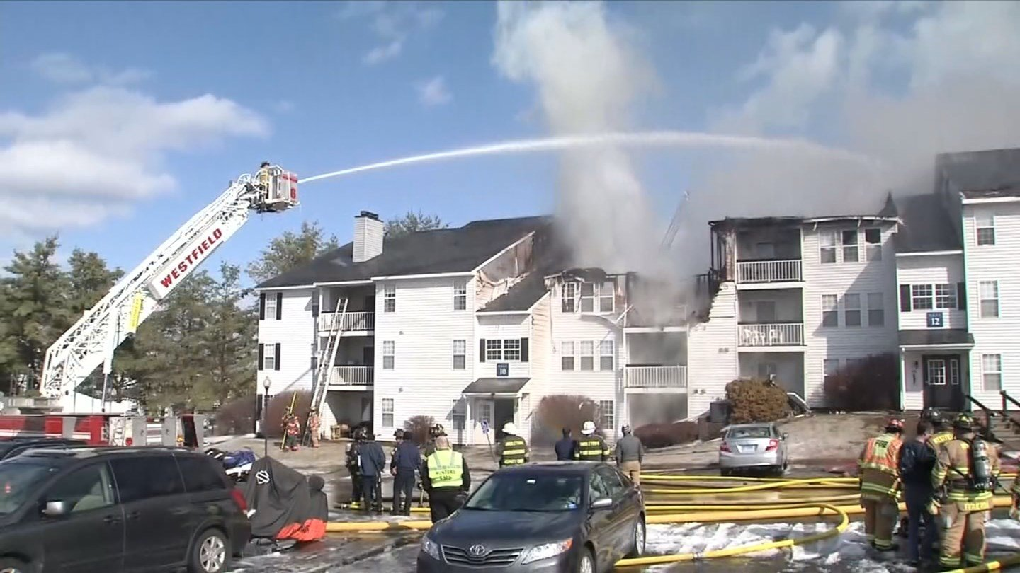 Firefighters responded to a fire at the Northwoods apartment complex in Middletown on Thursday. (WFSB)