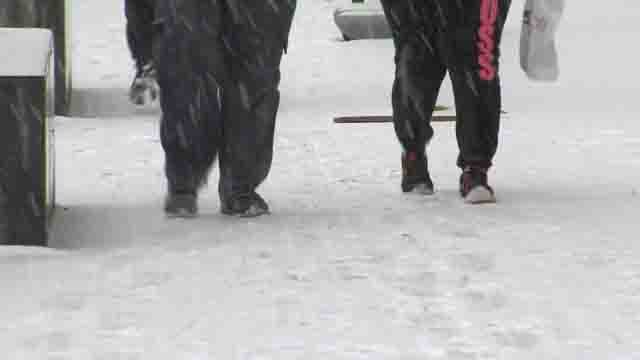 Wednesday icy storm led to more slips and falls (WFSB)