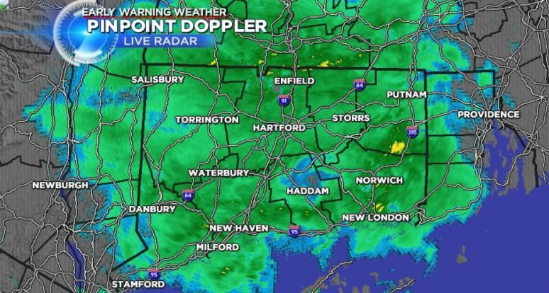 A soggy and mild Sunday morning, heavier rain in the afternoon (WFSB)