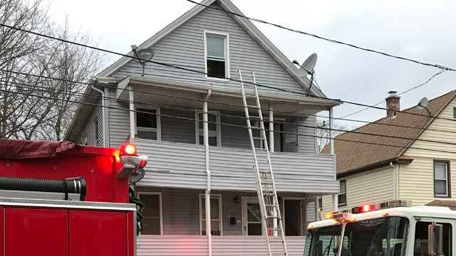 One person was hurt in a kitchen fire at a home on Steward Street in New London on Monday morning. (WFSB)