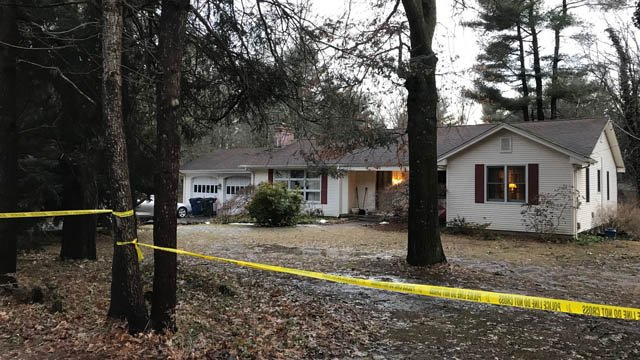 A son is believed to have stabbed his parents in this Granby home, police said. (WFSB)