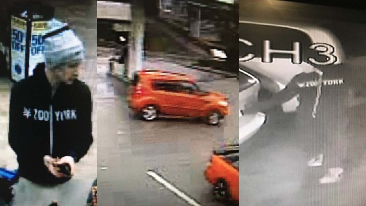 A suspect is sought in connection with a number of vehicles that were damaged at a Norwich autodealer. (Norwich police)