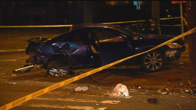 Crews were called to a serious crash in Hartford Monday night (WFSB)