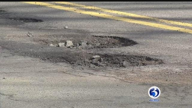 It's that time of the year when potholes are popping up, costing drivers hundreds (WFSB)