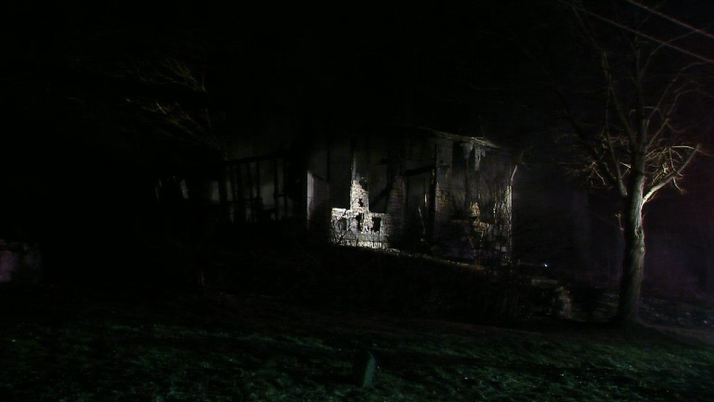 Firefighters in Lisbon are on scene of a structure fire on Papermill Road. (WFSB)