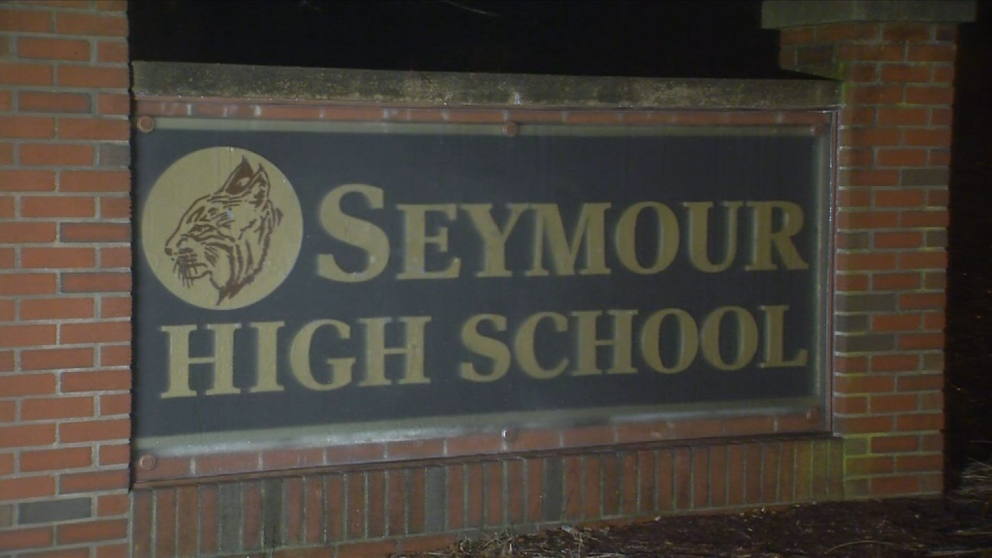 An incident that led to the suspension of a student prompted extra police patrols at Seymour High School on Friday. (WFSB)