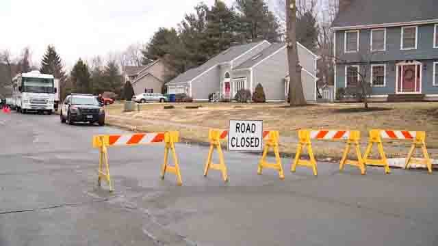 Crews were called to a shooting in South Windsor on Friday (WFSB)