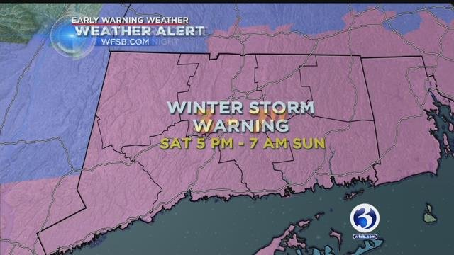 Winter Weather Alert issued for Saturday evening and Sunday morning