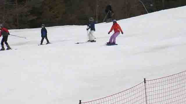The slopes were busy at Ski Sundown on Monday (WFSB)