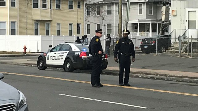 Police responded to a shooting on Edgewood Street on Tuesday. (WFSB)