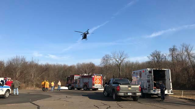 LIFE STAR was called to the McLean Refuge in Granby on Tuesday (WFSB)