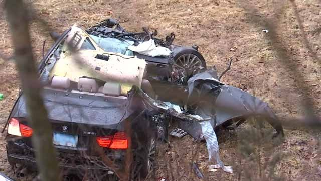 Crews responded to a serious crash on Route 2 in Marlborough (WFSB)