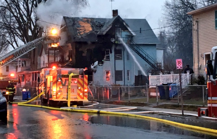 Hartford firefighters battling two separate fires (WFSB)