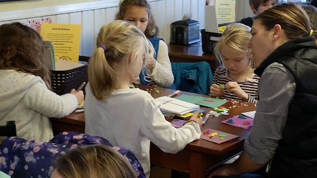A group of local mothers and their children are handmaking cards to deliver messages of love and kindness to Parkland, Florida  (WFSB)