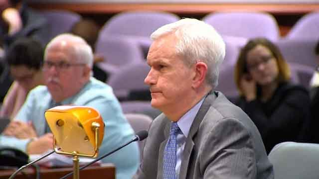 Andrew McDonald was questioned on Monday by lawmakers (WFSB)