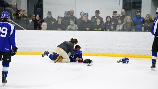 A hockey player needed surgery on Monday after injuries suffered in a game (Michael Abbatiello)