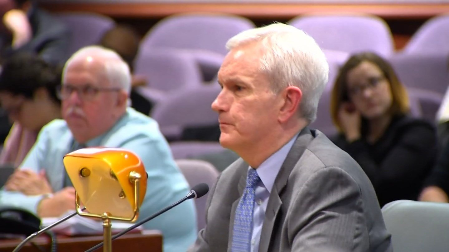 Andrew McDonald during a previous hearing on his nomination. (WFSB)